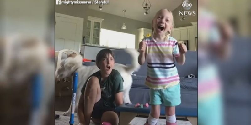 "Watch jubilant ""Mighty Miss Maya"" take her first independent steps."